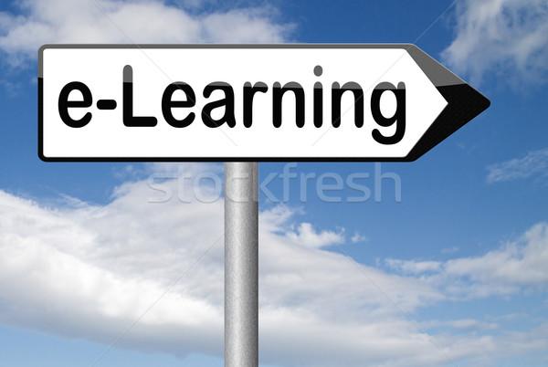 Online istruzione internet apprendimento open Foto d'archivio © kikkerdirk