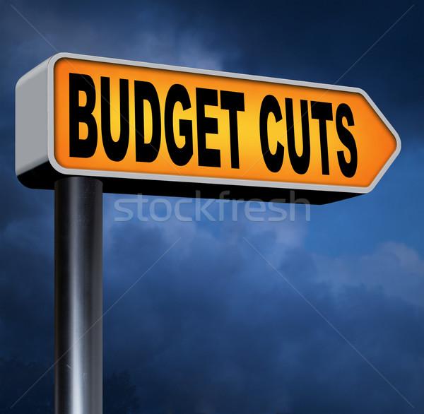 Költségvetés vág válság gazdasági recesszió egyensúly Stock fotó © kikkerdirk