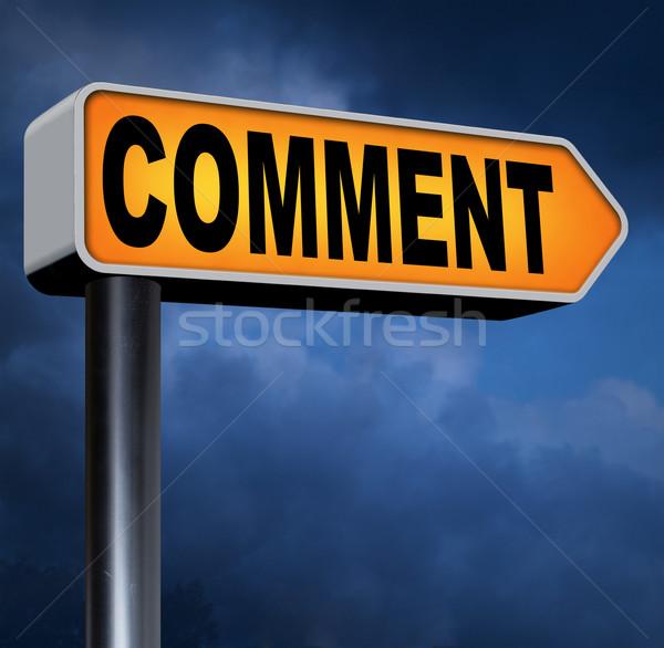 Comentario aquí escribir cliente dar Foto stock © kikkerdirk