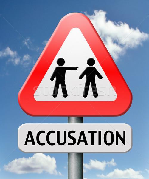 Acusação falso real indicação dedo culpado Foto stock © kikkerdirk