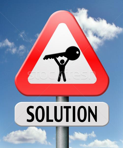Zdjęcia stock: Rozwiązanie · wyszukiwania · problem · odpowiedzi · pytania