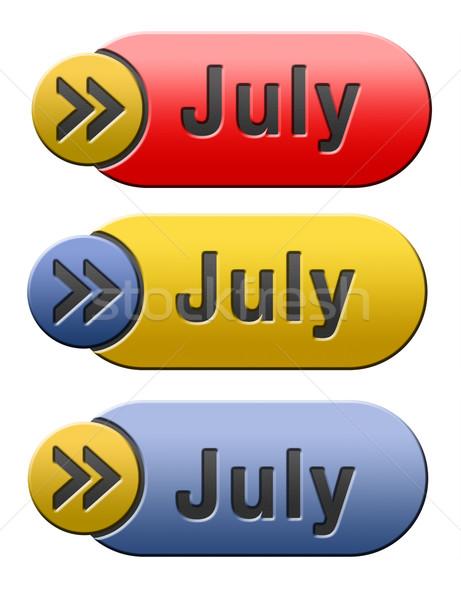 July button Stock photo © kikkerdirk