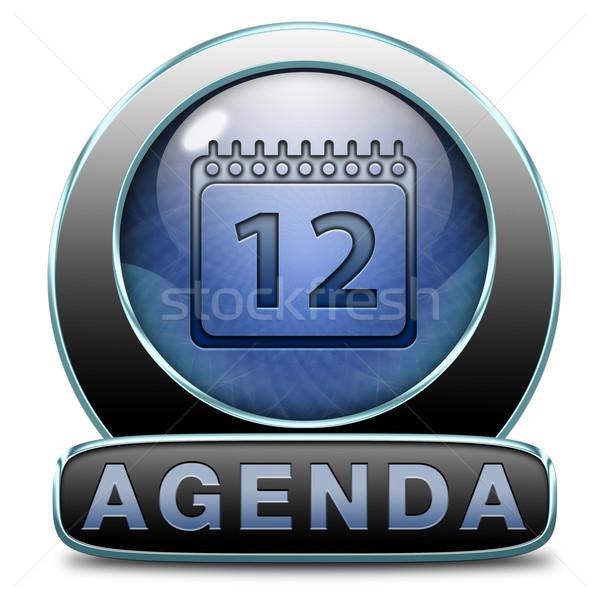 Agenda horário negócio programar planejamento Foto stock © kikkerdirk