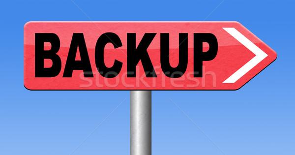 Adat biztonsági mentés szoftver másolat felhő lemez Stock fotó © kikkerdirk