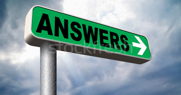 Zdjęcia stock: Odpowiedzi · odnaleźć · pytania · wyszukiwania · rozwiązanie · informacji