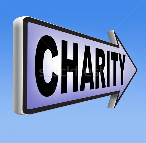 Caridad donación dar ayudar buena Foto stock © kikkerdirk