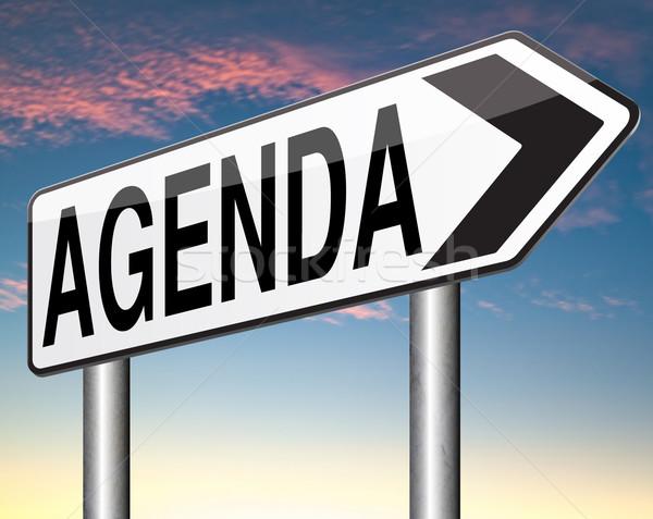 Agenda schema dienstregeling business organiseren planning Stockfoto © kikkerdirk
