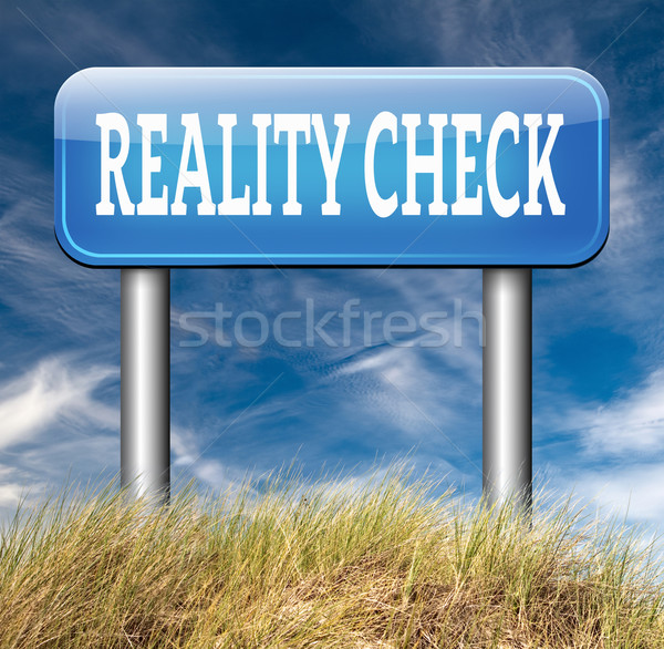 reality check Stock photo © kikkerdirk