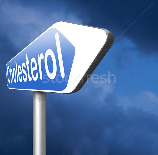 Hoog cholesterol niveau verlagen cardiovasculaire ziekte Stockfoto © kikkerdirk