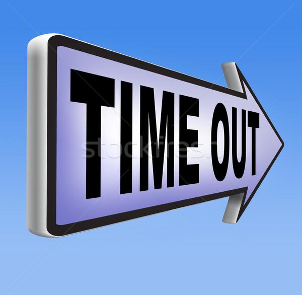 time out Stock photo © kikkerdirk