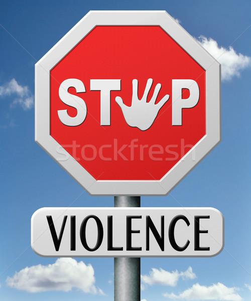 остановки насилия нет внутренний агрессия войны Сток-фото © kikkerdirk
