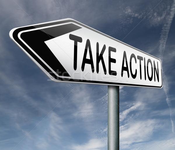 take action Stock photo © kikkerdirk