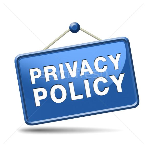Privacy personale dati confidenziale Foto d'archivio © kikkerdirk