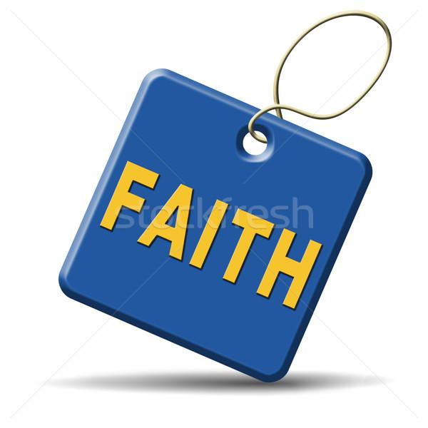 веры икона доверия вера Бога Иисус Сток-фото © kikkerdirk