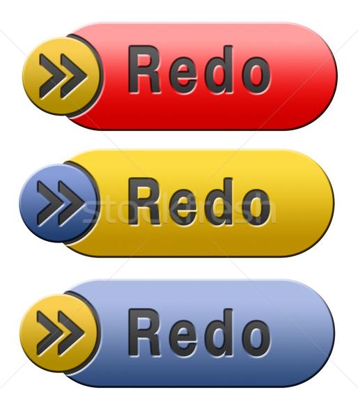 redo button Stock photo © kikkerdirk