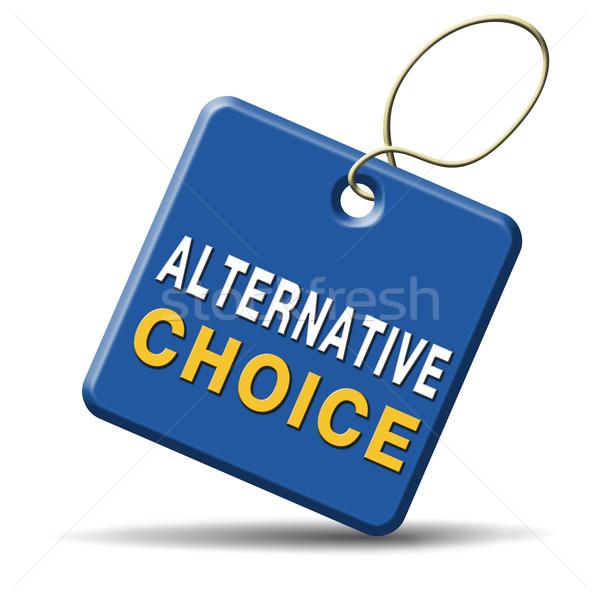 Alternativa scelta scegliere diverso opzione pensare Foto d'archivio © kikkerdirk
