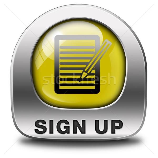 sign up icon Stock photo © kikkerdirk