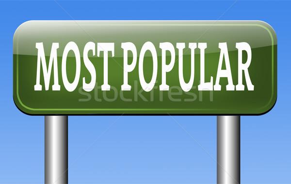 Populair gezocht verkeersbord populariteit bestseller markt Stockfoto © kikkerdirk