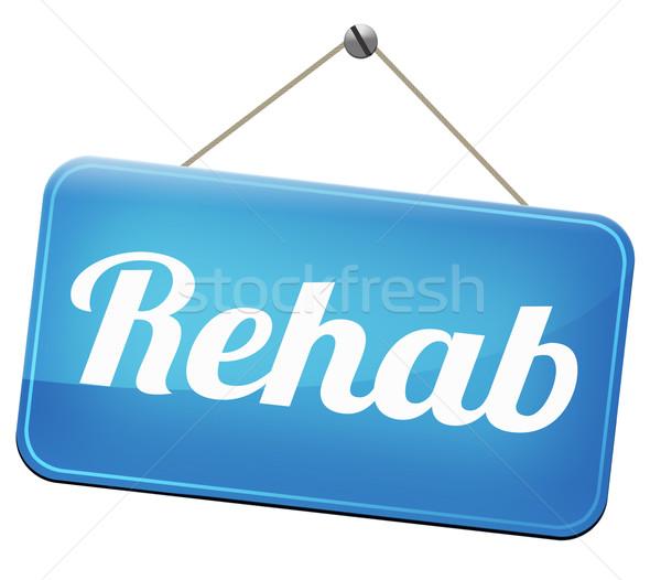 Rehabilitáció rehab drogok alkohol függőség sport Stock fotó © kikkerdirk