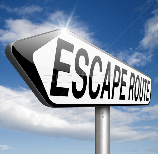 Stock photo: escape route to safety