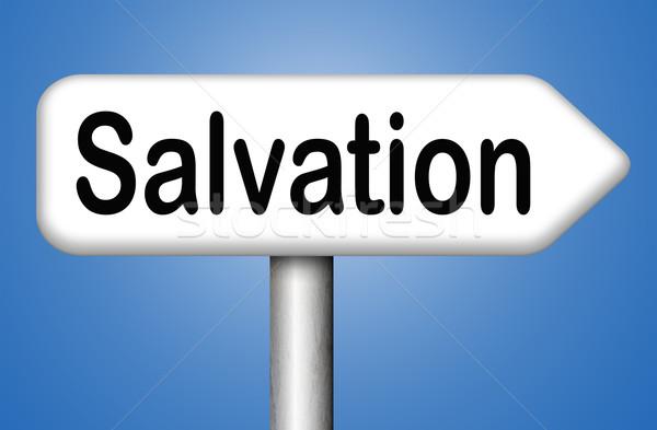 Megváltás Jézus Isten mentés lélek felirat Stock fotó © kikkerdirk