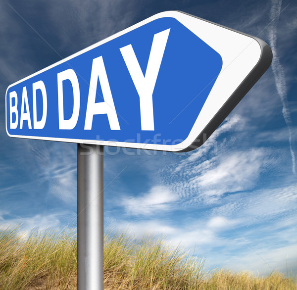 Stock photo: bad day