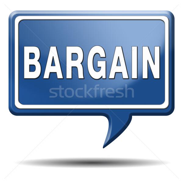 Alkalmi vétel szöveg léggömb ikon gomb ár Stock fotó © kikkerdirk
