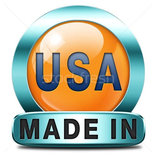 ABD orijinal amerikan ürün satın almak yerel Stok fotoğraf © kikkerdirk