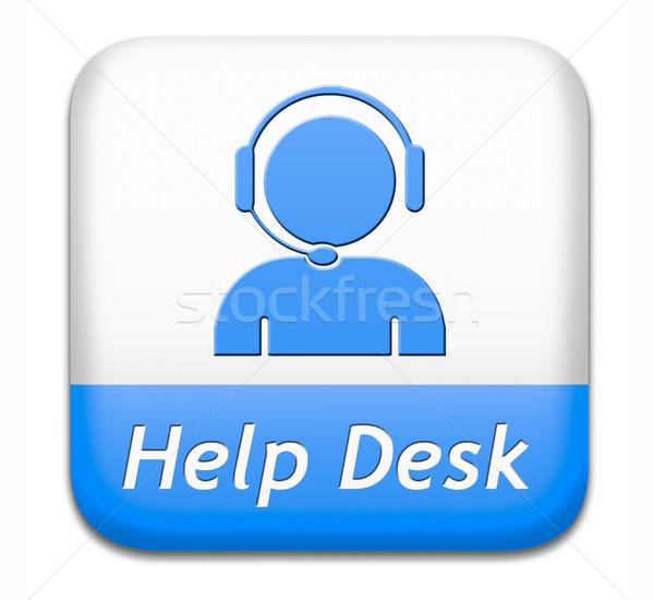help desk button Stock photo © kikkerdirk