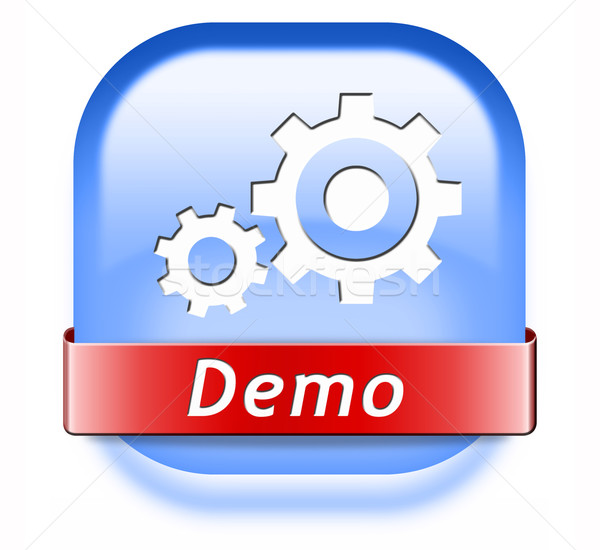 Stock photo: demo button
