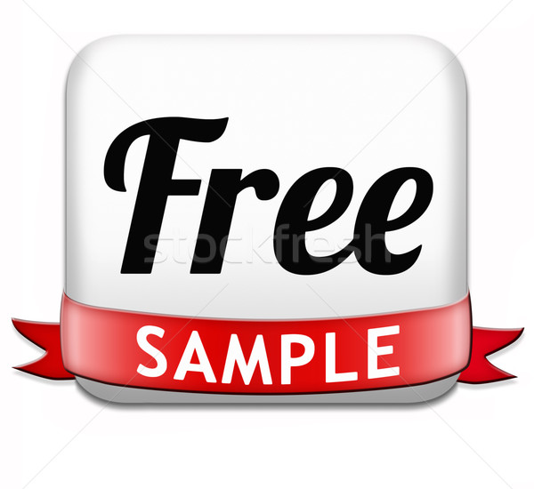free sample Stock photo © kikkerdirk