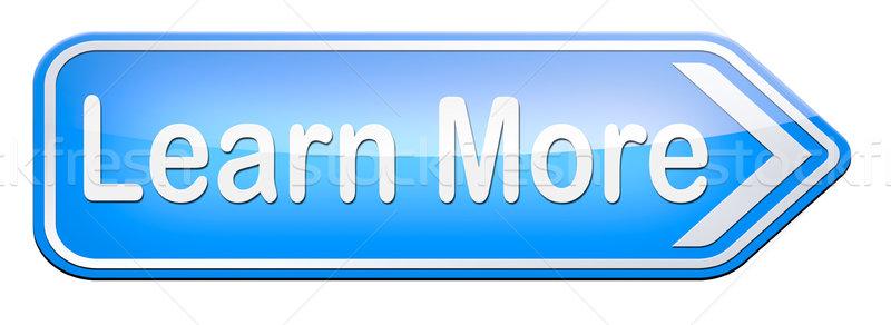 Aprender más detalles extra información signo Foto stock © kikkerdirk