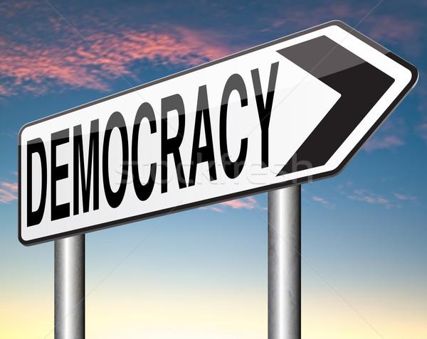 民主主義 政治的 自由 電源 人 新しい ストックフォト © kikkerdirk