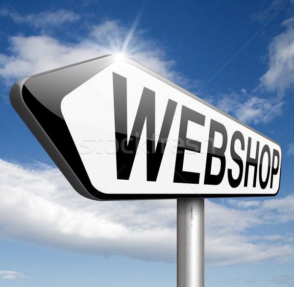 Webshop online winkelen internet store website banner Stockfoto © kikkerdirk