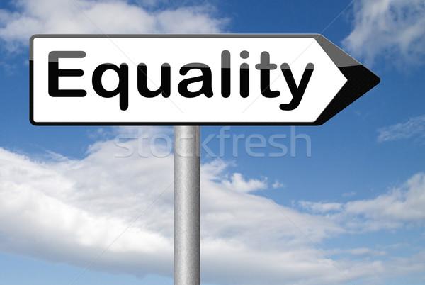 Eşitlik adam kadın dayanışma eşit Stok fotoğraf © kikkerdirk