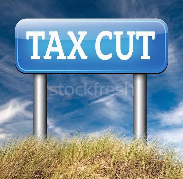 Stok fotoğraf: Vergi · kesmek · düşük · vergi · daha · az