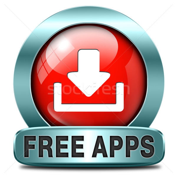свободный приложения бесплатно скачать применение икона Сток-фото © kikkerdirk