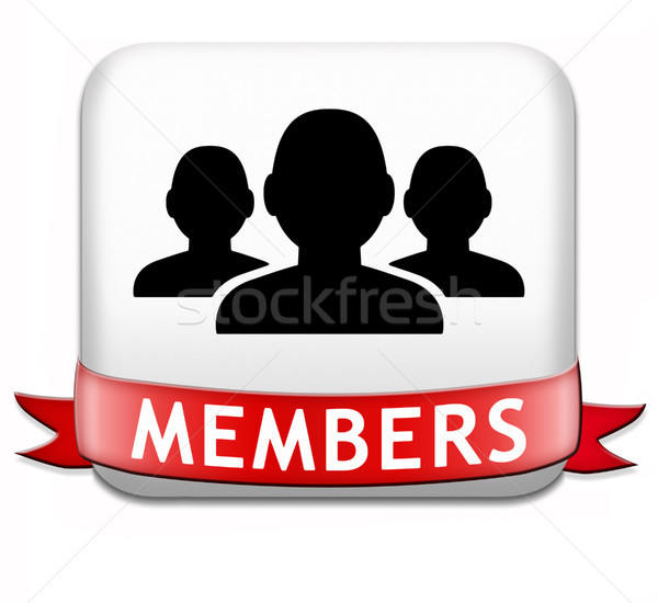 Stock photo: members button