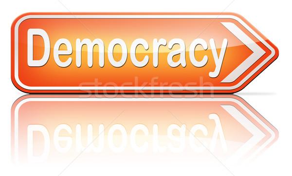 Demokracja polityczny wolności moc ludzi nowego Zdjęcia stock © kikkerdirk