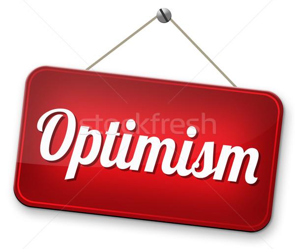 Ottimista ottimismo pensare positivo positività atteggiamento Foto d'archivio © kikkerdirk