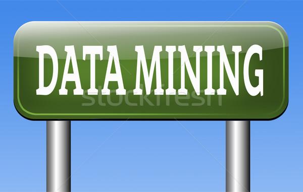 Adat bányászat elemzés keresés nagy információ Stock fotó © kikkerdirk