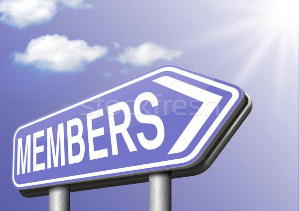 Beperkt lidmaatschap teken tekst sticker lid Stockfoto © kikkerdirk