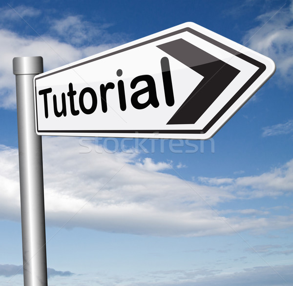 Tutorial internet leckék tanul online néz Stock fotó © kikkerdirk
