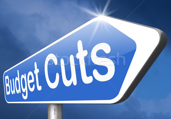 Bilancio taglio crisi economico recessione equilibrio Foto d'archivio © kikkerdirk