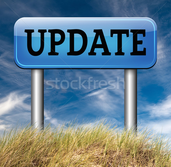 update sign Stock photo © kikkerdirk