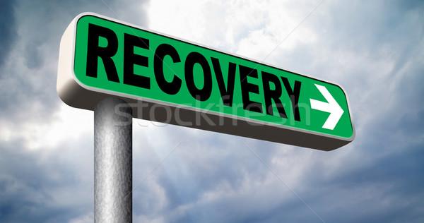 Foto d'archivio: Guarigione · perso · dati · crisi · recessione · strada