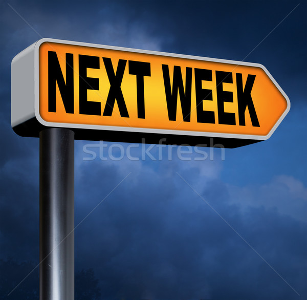 Successivo settimana in arrivo futuro agenda tempo Foto d'archivio © kikkerdirk