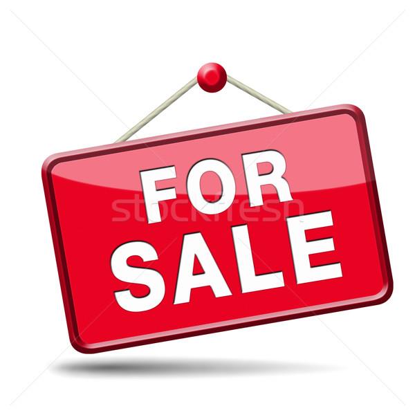 Vásár felirat lakás ház szalag elad Stock fotó © kikkerdirk