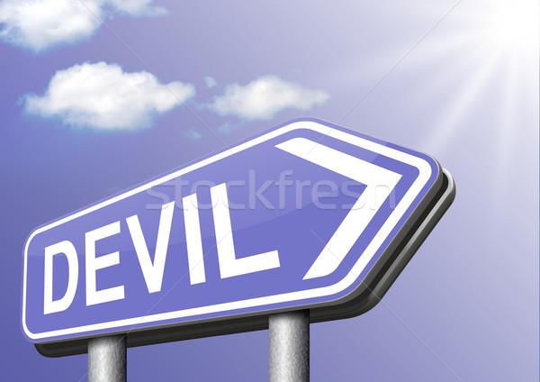 Duivel verleiding kwaad satan brandwond hel Stockfoto © kikkerdirk