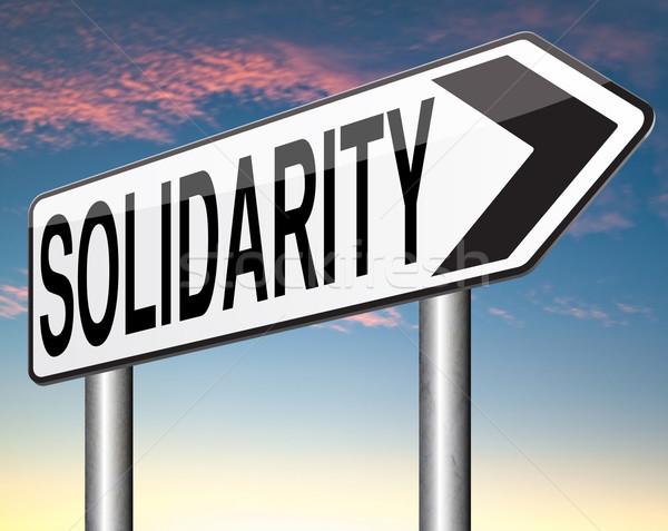 solidarity Stock photo © kikkerdirk